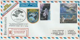 Kazachstan Enveloppe Space Station ISS  2001 Mi.nr. 247+248+342 - Kazakhstan
