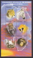 Tanzania, Scott #1630G, Mint Never Hinged, Animals Of The World, Issued 1997 - Tanzania (1964-...)
