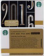 Starbucks - USA - 2015 - CN 6112 6464 - 2016 - Gift Cards