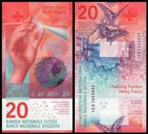 SWITZERLAND 20 Francs 2015 Sig. Studer-Jordan  UNC Hybrid Butterflies - Suiza