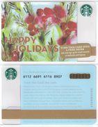 Starbucks - USA - 2015 - CN 6112 6691 Happy Holidays - Gift Cards