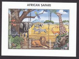Tanzania, Scott #1631-1632, Mint Hinged, Animals Of The World, Issued 1997 - Tanzania (1964-...)