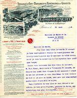 Marbrerie Edmond PACHY,  Travaux D'art Et Monuments Funéraires En Granit, PARIS 10°, Place De La République N° 23, 1924 - France