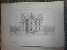 CHATEAU D ' ANGERVILLE BAILLEUL  XVI Eme 12 Pages  HISTOIRE 7 PLANCHES  PLAN   PALAIS ET CHATEAUX DE FRANCE 1867 - Architecture