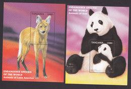 Tanzania, Scott #1633-1636, Mint Never Hinged, Animals Of The World, Issued 1997 - Tanzanie (1964-...)