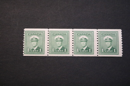 Canada 263 KGVI Strip Of Four MNH 1943 WYSIWYG  A04s - Coil Stamps