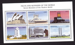 Tanzania, Scott #1637, Mint Never Hinged, Modern Architecture, Issued 1997 - Tanzania (1964-...)