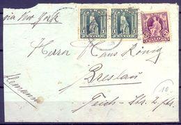 1908 , CUBA , SOBRE CIRCULADO A BRESLAU , VIA NUEVA YORK - Cuba