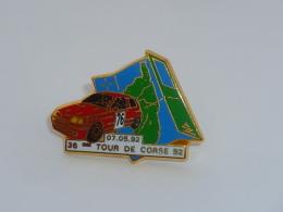 Pin's ARTHUS BERTRAND, RALLYE TOUR DE CORSE, ROUGE - Arthus Bertrand