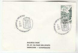 1967 LUXEMBOURG Recontre Des Jeunes De L'UCCE Event COVER  Stamps - Briefe U. Dokumente