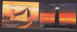 Tanzania, Scott #1639-1640, Mint Hinged, Architecture, Issued 1997 - Tanzanie (1964-...)