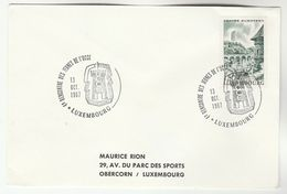 1967 LUXEMBOURG Recontre Des Jeunes De L'UCCE Event COVER  Stamps - Luxembourg