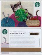 Starbucks - USA - 2015 - CN 6113 6900 Cat - Gift Cards