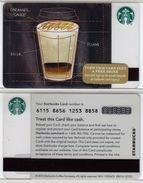 Starbucks - USA - 2015 - CN 6115 8656 Caramel Cappuccino - Gift Cards