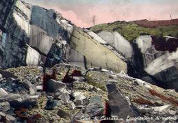 Cave Di Carrara - Lavorazione Del Marmo - Formato Grande Viaggiata – E 4 - Carrara
