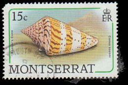 Montserrat Scott #683, 15¢ Multicolored (1988) Sozoni's Cone, Used - Montserrat