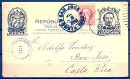 1918 , CUBA , ENTERO POSTAL CIRCULADO ENTRE PINAR DEL RIO Y SAN JOSÉ DE COSTA RICA , CENSURA , LLEGADA - Cuba