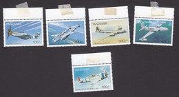 Tanzania, Scott #1646-1650, Mint Hinged, Planes, Issued 1997 - Tanzania (1964-...)
