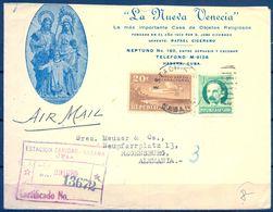 1939 , CUBA , CERTIFICADO DE ESTACIÓN SANIDAD - HABANA HACIA REGENSBURG , TRÁNSITO NUEVA YORK , LLEGADA - Cuba