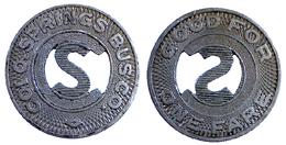05125 GETTONE JETON TOKEN TRASPORTI BUS TRANSPORTATION COLORADO COLORADO SPRINGS TRANSIT CO. 1936 - USA