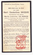 DP Henri C. Gauquie ° Noordschote Lo-Reninge 1856 † Poperinge 1932 X Maria L. De Bergh - Santini