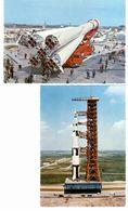^ 2 CP Série Espace - URSS : Satellite Vostok - USA : Fusée Saturne - Espace