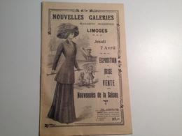 LIMOGES,  Catalogue Publicitaire,Nouvelles Galeries, 12 Pages, Vers 1910 Je Pense - Pubblicitari