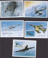 Tanzania, Scott #1654-1658, Mint Never Hinged, Planes, Issued 1997 - Tanzania (1964-...)
