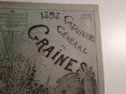 CARIGNAN, Ardennes, Exceptionnel  Catalogue Publicitaire De Graines, 1898, G. Denaiffe Et Fils - Pubblicitari