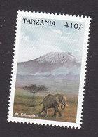 Tanzania, Scott #1664, Mint Hinged, Mt Kilimanjaro, Issued 1998 - Tanzania (1964-...)