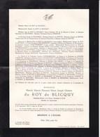 AVIATEUR AVIATION Harold Du ROY De BLICQUY Adjudant Pilote Accident Service Commandé KUMTICH 1930-1954 - Avvisi Di Necrologio