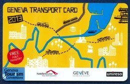 SWITZERLAND GENEVE - GENEVA TRANSPORT CARD 2013 NASHOTELS - Biglietti Di Trasporto