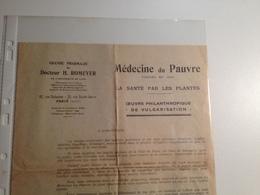 MEDECINE Du PAUVRE, 1894, La Santé Par Les Plantes, Publicité Du Dr Romeyer - Pubblicitari