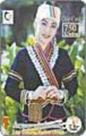 LAOS: LAOC02 750u Lao Theung National Dress USED - Laos