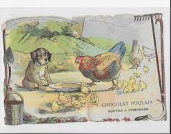 JOLI CHROMO POULAIN    POULE  CHIEN POUSSINS - Poulain