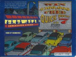 Riviera Casino - Black Hawk CO - Quick Pick 7 Scratch & Win Ticket From 2002 - Casino Cards