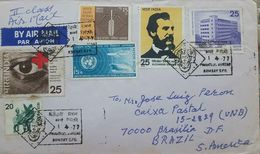 L) 1977 INDIA, SNDT WOMEN'S UNIVERSITY, ARCHITECTURE, ALEXANDER GRAHAM BELL, AIRPLANE, BOAT, EYE, CROOS RED,  COMMERCE, - India