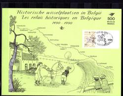 1990  500° Liaison Postale Innsbruck-Malines, Feuillet Souvenir, 2350HKs1, Cote 90 €, - Cartes Souvenir