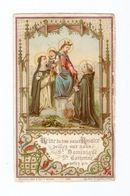 Reine Du Très Saint Rosaire, Vierge Marie, Jésus, Saint Dominique Et Catherine De Sienne, N° 499 - Images Religieuses