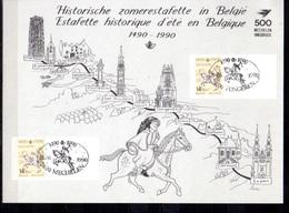 1990  500° Liaison Postale Innsbruck-Malines, Feuillet Souvenir, 2350HKs2, Cote 110 €, - Cartas Commemorativas