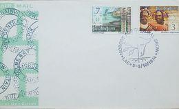 L) 1974 PAPUA NEW GUINEA, COASTAL VILLAGE CENTRAL DISTRIC,  HOUSES, WIG-MAKERS SOUTHERN ISLANDS, CULTURE, FDC - Papua New Guinea