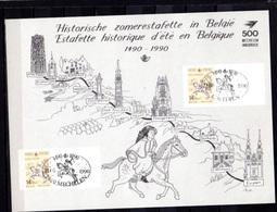 1990  500° Liaison Postale Innsbruck-Malines, Feuillet Souvenir, 2350HKs2, Cote 110 €, - Cartes Souvenir