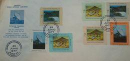 L) 1997 EL SALVADOR, TERRA IZALCO STATION, ANTENNA, INGENIO CENTRAL AZUCARERO JIBOA, CENTRAL HYDROELECTRICA, MULTIPLE ST - El Salvador