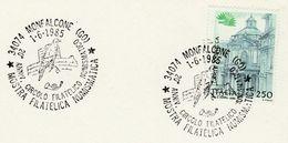 1985 Monfalcon FALCON BIRD EVENT COVER Card  Stamps Italy Birds - Eagles & Birds Of Prey