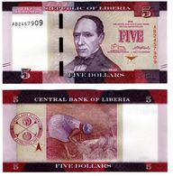 Liberia - 5 Dollars 2016 UNC Lemberg-Zp - Liberia