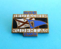 GERMANY ROWING DAY 1951. PASSAU Enamel Pin Badge * FISA Rudern Anstecknadel Aviron Rudersport Ruder Rudernd Canottaggio - Rowing