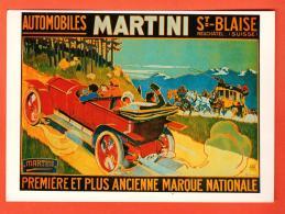 GAW-20 Affiche Musée Suisse Transport, Autos Martini St-Blaise Par Elzingre, Illustrateur. Grand Format, Non Circulé - Taxi & Carrozzelle