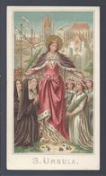 HOLYCARD IMAGE PIEUSE SANTINI S. URSULA GOLDPRINT - Images Religieuses