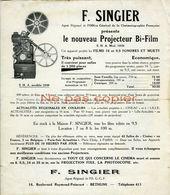 Projecteur Film OEHMICHEN  / F. SINGIER 1939 Publicité - France