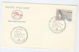 1986 ITALY TELECOM Stamps FDC Cover - Telecom